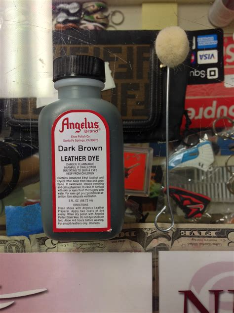 angelus leather dye vs paint angelus brown leather dye 3 fl oz jwong boutique