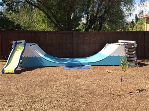 backyard half pipe backyard with half pipe the perfect gift for children a