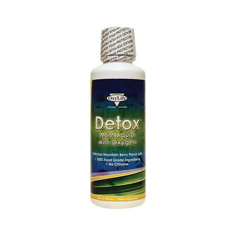 Msm Detox Symptoms by Oxylife Detox Msm Liquid With Oxygen 16 Fl Oz Liquid