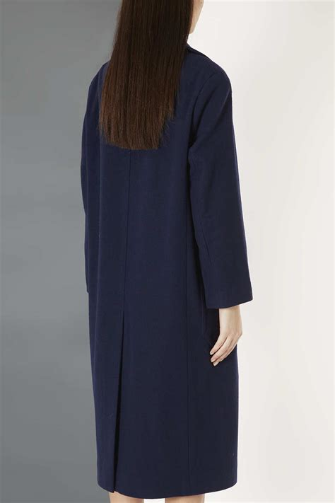 Kokosalaki For Topshop by Lyst Topshop Wool Pocket Coat By Boutique In Blue