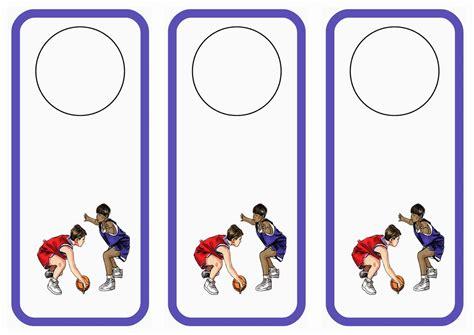 printable basketball bookmarks basketball door hangers birthday printable