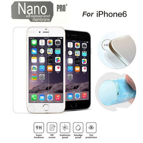 Taffware Nano Explosion Proof Toug Or Iphone Iphone Se 5 5s Transparan taffware nano explosion proof toughened membrane screen protector for iphone 6 plus