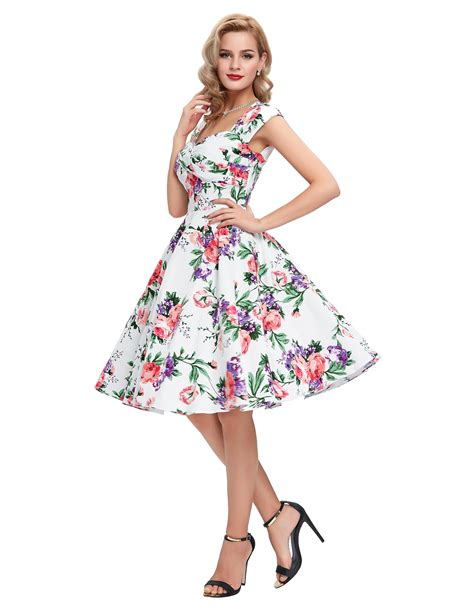 pinup swing dress womens retro swing dress 50s housewife floral swing pinup