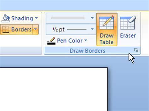 Change Table Style Word 2007 How To Draw A Table Line By Line In Word 2007 Dummies