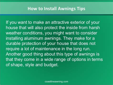 how to install an awning how to install awnings tips