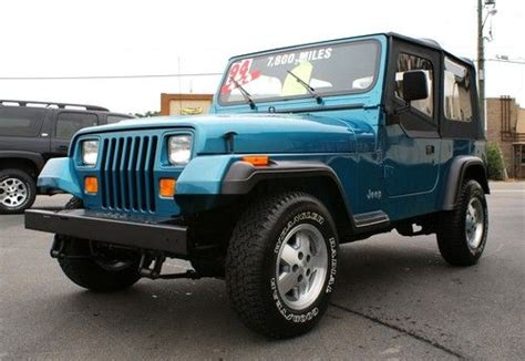 jeep wrangler turquoise for sale find used 1994 jeep wrangler se 4x4 showroom new condition