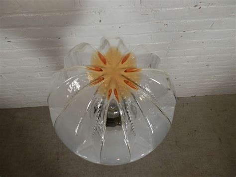 Blown Glass Floor L by A V Mazzega Blown Glass Mid Century Floor L For Sale