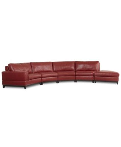 lyla leather curved sectional sofa 4 curved chair