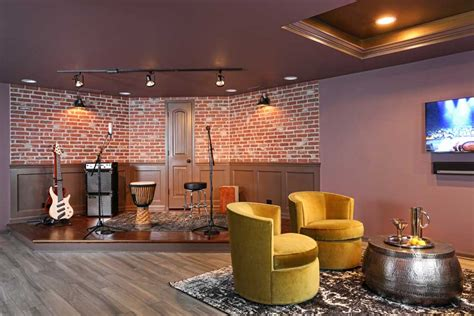 batavia finished basement remodeled  night club feel