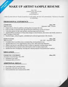 Makeup Artist Objective Resume Make Up Artist Resume Sample Beauty Resumecompanion Com