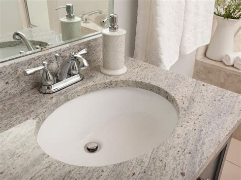 Undermount Bathroom Sinks How To Install Undermount Bathroom Sinks Hgtv