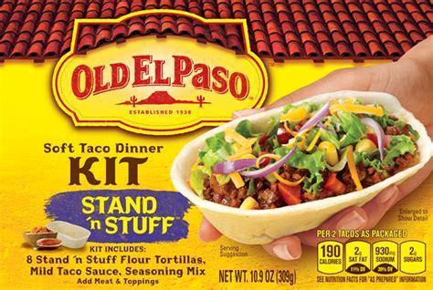mini taco boats nutrition free old el paso taco kit at kroger affiliates