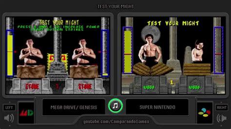 mortal kombat 2 sega genesis mortal kombat 1 sega genesis vs snes test your might