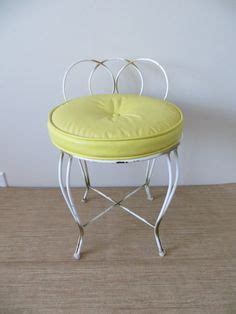 small metal vanity chair vanity retro chair stool vintage regency white