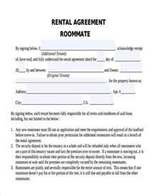roommate rental agreement template 8 roommate agreement form sles free sle exle
