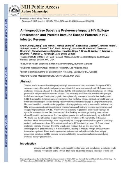 javascript pattern escape aminopeptidase substrate preference affects hiv epitope