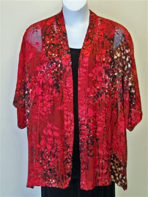 Ufhc Bali Clothing A 7x burnout silk kimono jacket plus size
