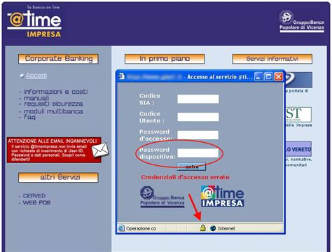 time impresa popolare di vicenza news malware hoax tg soft software house