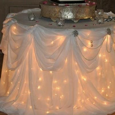 twinkle lights under tablecloth table cloths pinterest