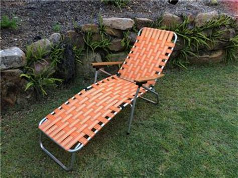folding banana lounge chair vintage folding orange webbed and aluminium lawn banana