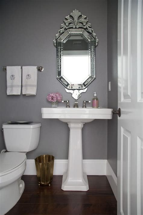 pretty bathroom mirrors 20 sweet bathrooms with pedestal sinks messagenote