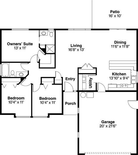 3 bedroom 3 bath floor plans traditional house plan 3 bedrooms 2 bath 1244 sq ft plan 17 881