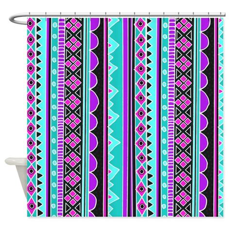 tribal pattern curtains blue and purple tribal pattern shower curtain by