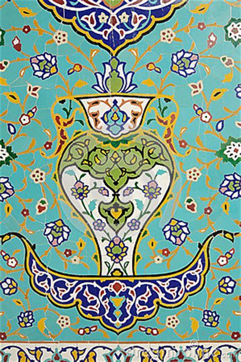 floral pattern in islamic art islamic floral motif pattern on mosaic stock illustration