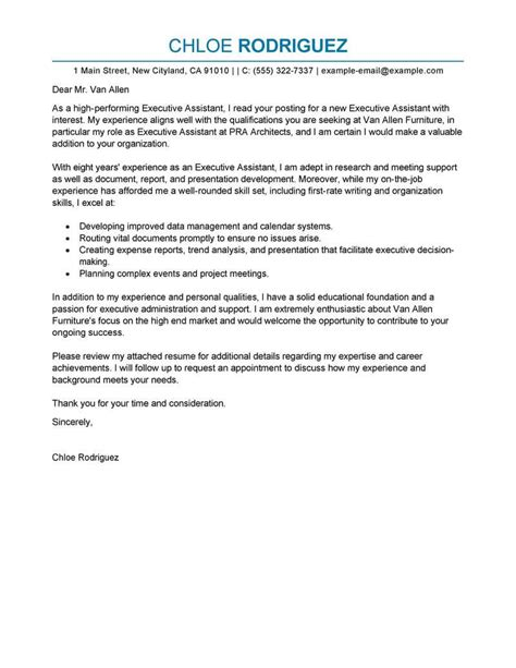 Cover Letter Sles For Admin Assistant by 350 Free Cover Letter Templates For A Application