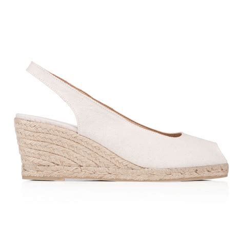 castaner canvas espadrille wedge sandals in beige