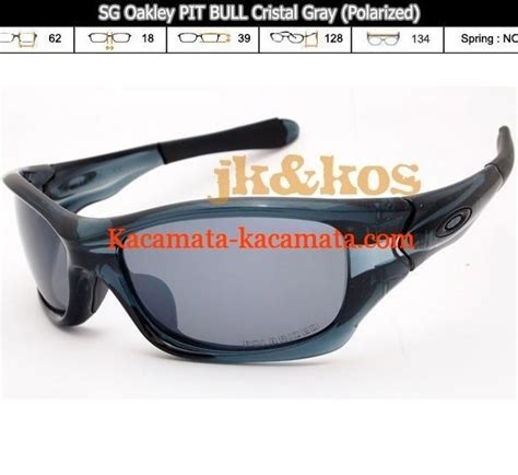 Kacamata Polarized Oakley kacamata polarized oakley kw pit bull cristal gray