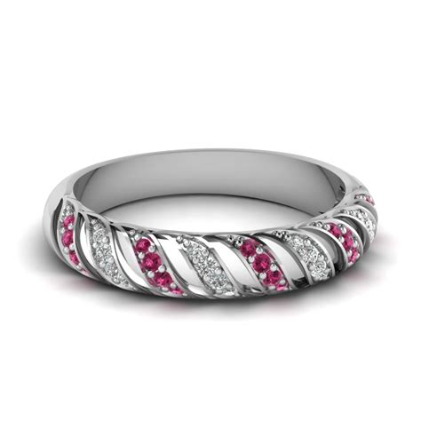 pink sapphire rope design band in fd67809bgsadrpi