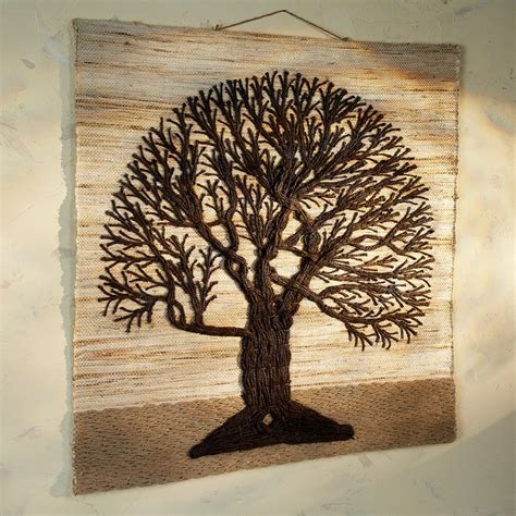 tree wall hanging jute tree of wall hanging
