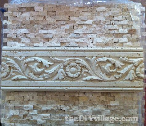Installing Glass Tiles For Kitchen Backsplashes split face travertine tile backsplash the diy village