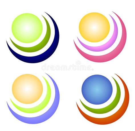 colorful circle logo colorful circle icons or logos stock illustration image