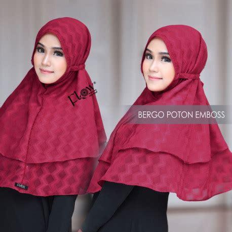 Siria Tammia Squins 1 khimar cantik jilbab bergo poton emboss by flow pusat grosir baju muslim