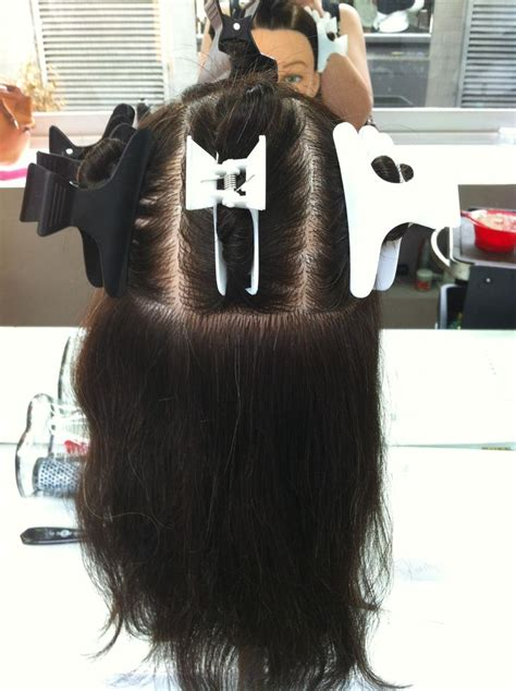how to section hair for foil highlights sectioning for half head of foils hair done at college