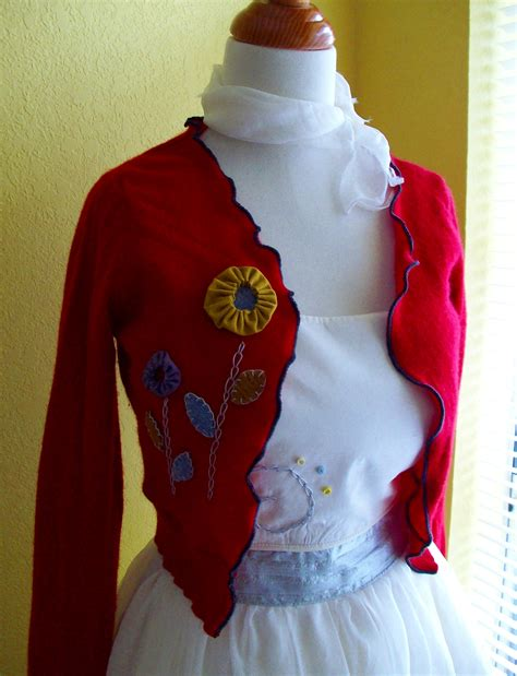 how to upcycle sweaters embellished upcycled sweater sewing projects