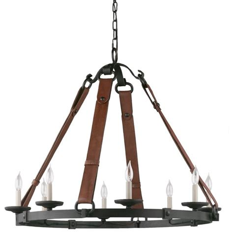 leather chandelier equestrian leather tack chandelier eclectic