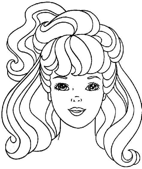 free a doll face coloring pages
