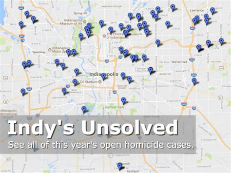 crime map indianapolis map indianapolis unsolved homicides 2017 theindychannel