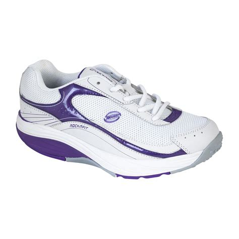 rocker bottom athletic shoes rock n fit s rocker bottom white purple shoes