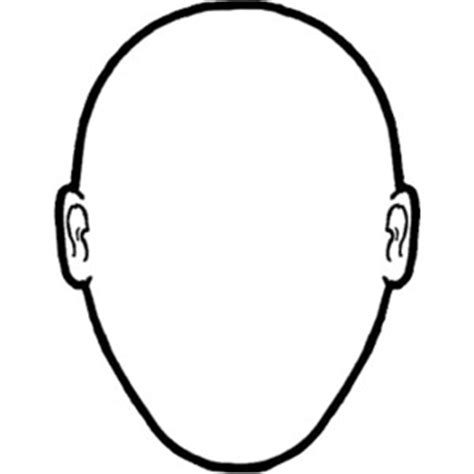 headshot template outline clipart best