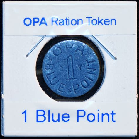 opa ration token blue 1 point with the lettering cv