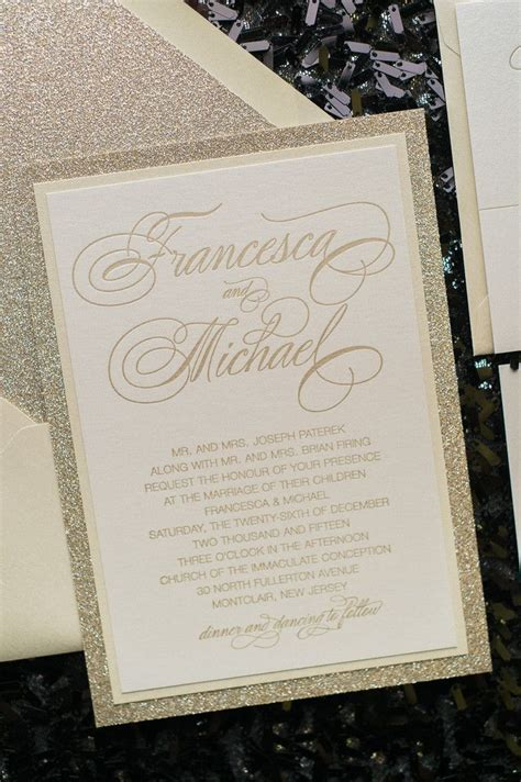 Fancy Wedding Invitations by 25 Best Ideas About Gold Wedding Invitations On