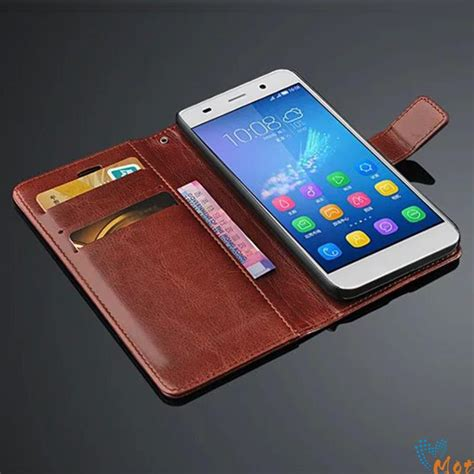 Flip Leather Retro Wallet Cover Casing Huawei Honor 4c for huawei y6 vintage flip for huawei honor 4a leather wallet stand cover fashion