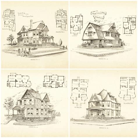 edwardian house plans 20 free vintage printable blueprints and diagrams