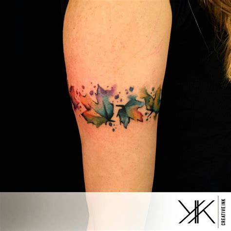 watercolor tattoo leaves koray karag 246 zler watercolor leaves inspirations