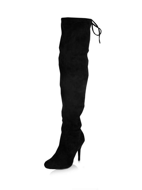 buy no doubt the knee suedette effect heel boots for