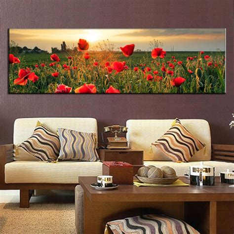 large canvas painting the flower fields canvas wall